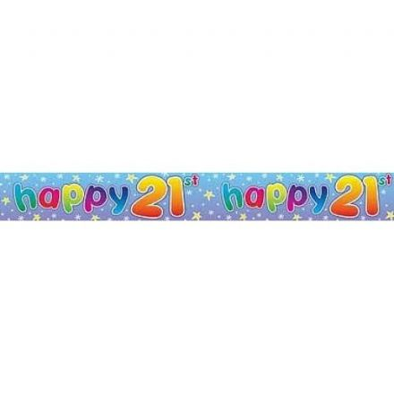 Happy 21st Birthday Twinkle Banner